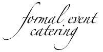 Formal Event Catering